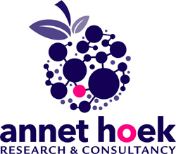 Dr. Annet Hoek, an independent Food, Health and Consumer Science consultant